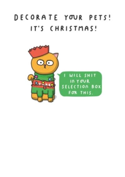 Mungo And Shoddy Decorate Your Pets Rude Christmas Card