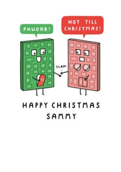 Mungo And Shoddy Cheeky Advent Calendar Christmas Card