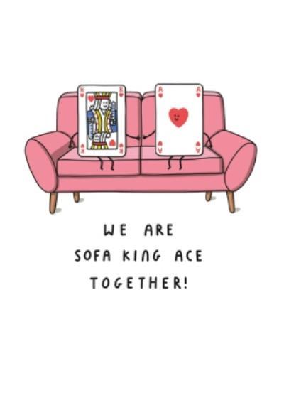 Mungo And Shoddy Sofa King Ace Funny Card