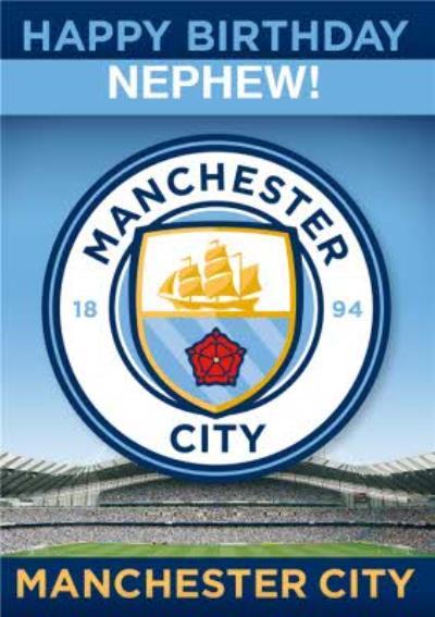 Manchester City Football Nephew Birthday Card