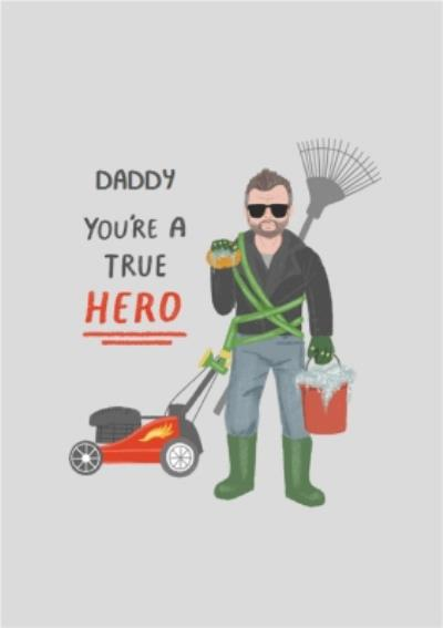 True Hero Daddy Cool Illustrated Greetings Card