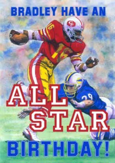 Mary Evans American Football All Star Birthday Card