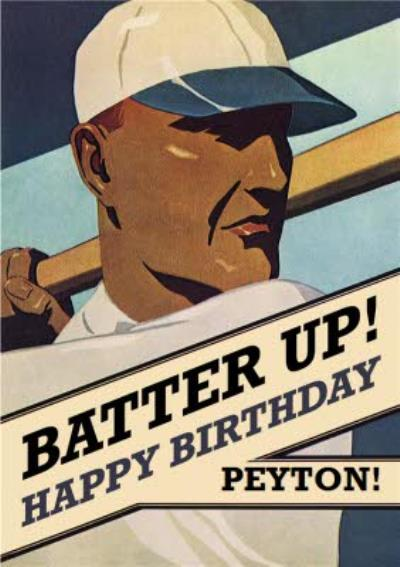 Mary Evans Baseball Batter Up Birthday Card