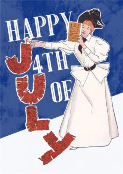 Mary Evans Happy 4th Of July Independence Day Card