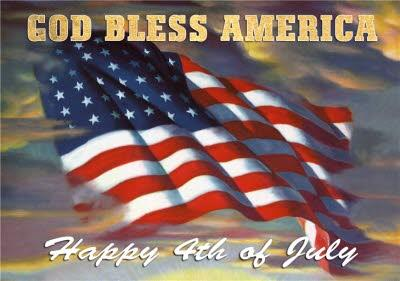 Mary Evans God Bless America Independence Day Card