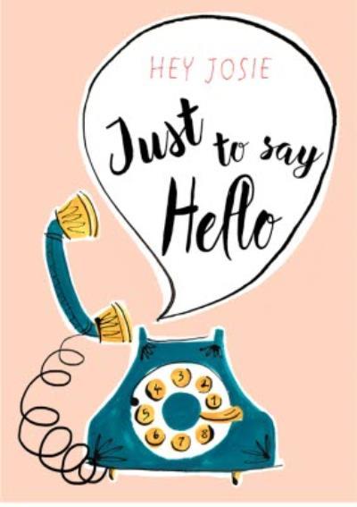 My Dear Friend Jenny Hello Personalised Card