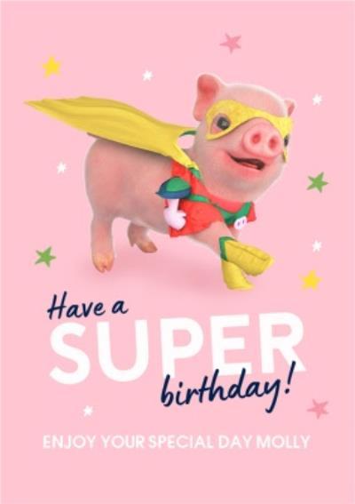 Moonpigs Cute Superpig Have A Super Birthday Card