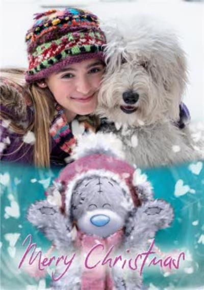 Me To You Tatty Teddy In The Snow Photo Christmas Card