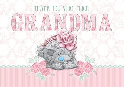 Tatty Teddy With Pink Flower Band Personalised Thank You Card