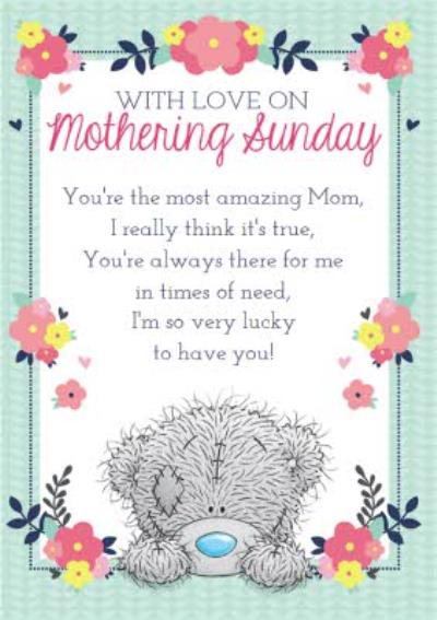 Mother's Day Card - Tatty Teddy Verse Card