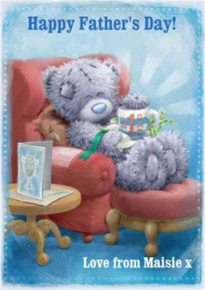Me To You Tatty Teddy Number One Dad Happy Fathers Day Card