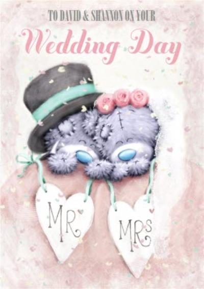 Me To You Tatty Teddy Personalised Wedding Day Card