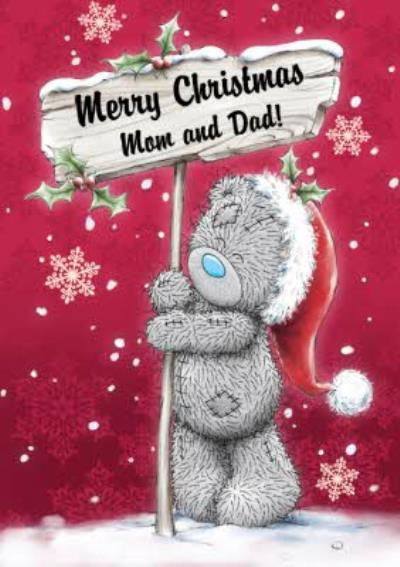 Tatty Teddy Sign Post Personalised Merry Christmas Card