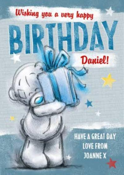 Me To You Tatty Teddy Wishing You A Happy Birthday Card