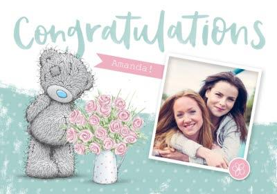 Me To You Tatty Teddy Photo Upload Congrats Card