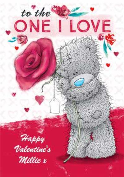 Carte Blanche One I Love Personalised Valentines Card