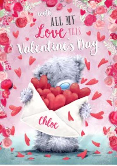 Carte Blanche All My Love Personalised Valentines Card