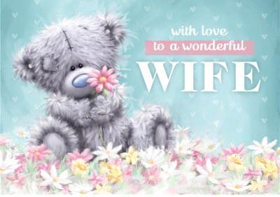 Wonderful Wife Tatty Teddy birthday card