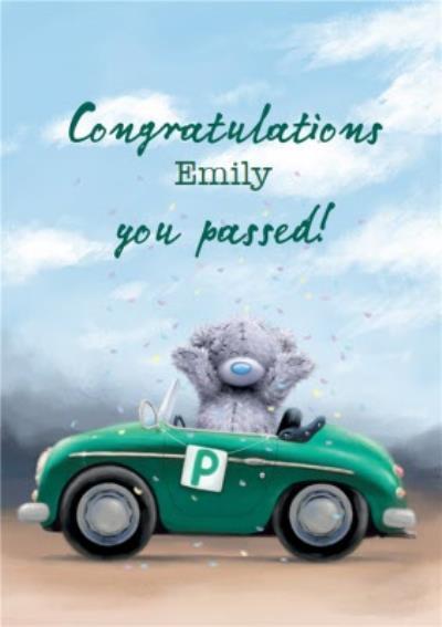 Tatty Teddy Card - Cute Passed driving test Congratulation