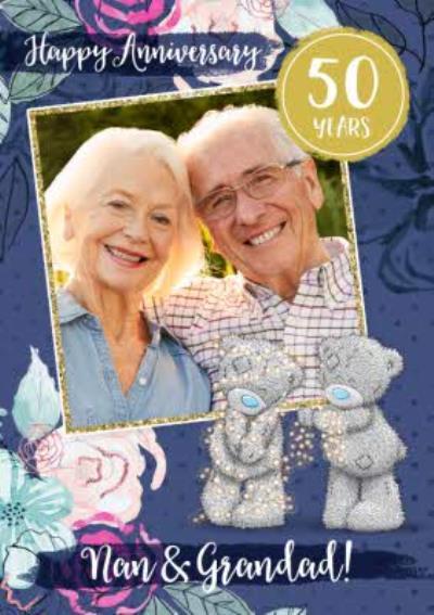 Me To You Tatty Teddy Nan & Grandad 50 Year Anniversary Photo Upload Card