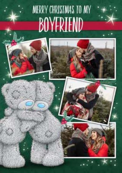 Me To You Tatty Teddy Photo Upload Christmas Card To my Boyfriend