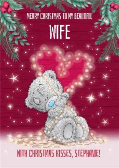 Me Me To You Tatty Teddy cute Christmas Card To My Beautiful Wife