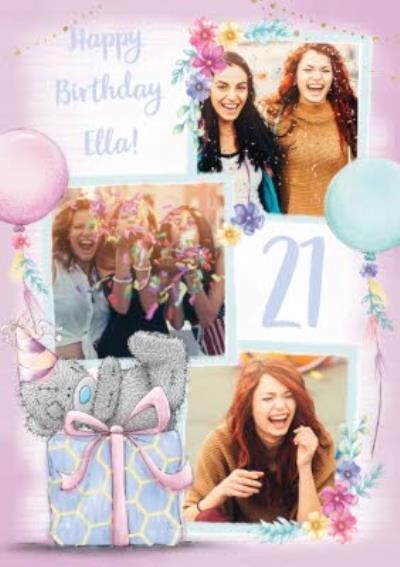 Me To You Tatty Teddy Photo Upload Birthday Card
