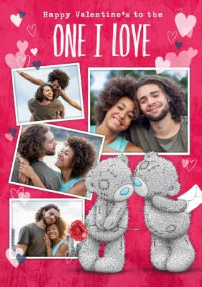Me To You Tatty Teddy One I Love Photo Upload Valentine's Day Card
