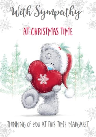 Me To You Tatty Teddy With Sympathy At Christmas Time Card