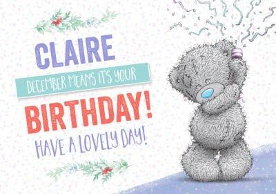 Me To You Tatty Teddy Birthday Christmas Card
