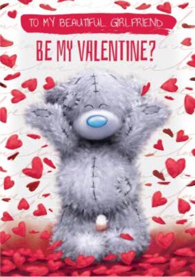 Me To You Tatty Teddy Photo Upload Be My Valentine's Card
