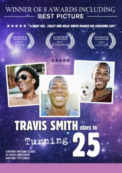 At The Movies Film Poster Inspired Photo Upload 25th Birthday Card