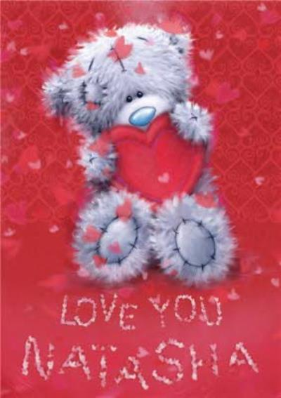 Me To You Tatty Teddy Personalised I Love You Card