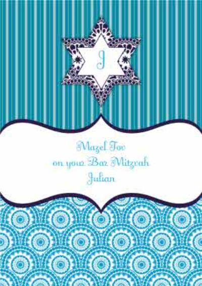Personalised Bar Mitzvah Card