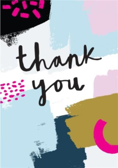 Paint Thank You Card