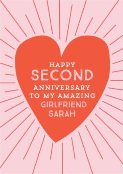 Natalie Alex Designs Cute Heart Happy Anniversary Card