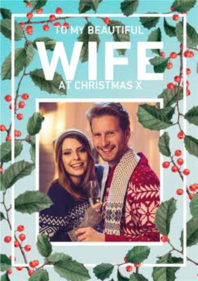 Natural History Museum Beautiful Wife Photo Upload Christmas Card