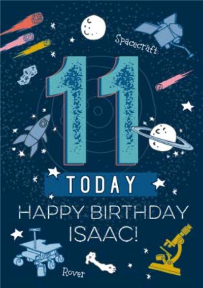 Natural History Museum Space 11th Birthday Card