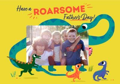 Illustration Dinosaurs Have A Roarsome Fathers Day Card