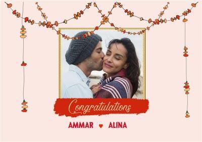 Asian Wedding Photo Upload Card