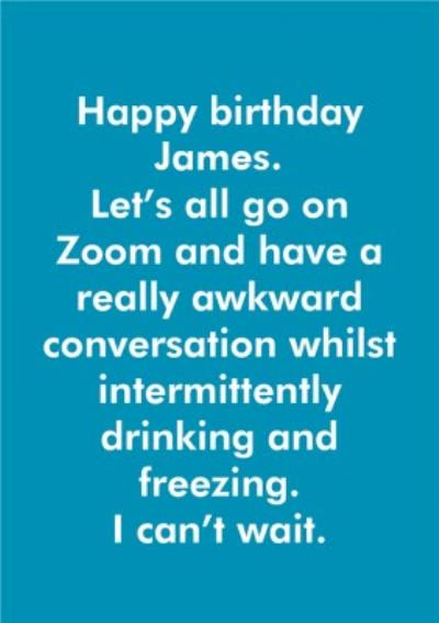 Objectables Birthday Awkward Zoom Call Funny Card