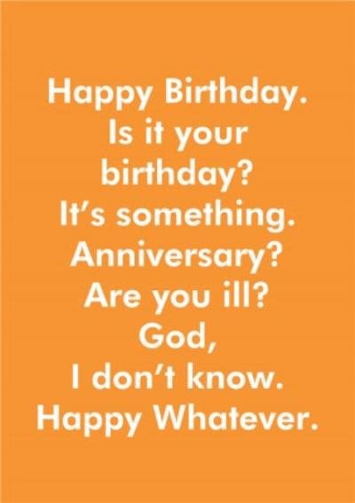 Objectables Is It Your Birthday Funny Card