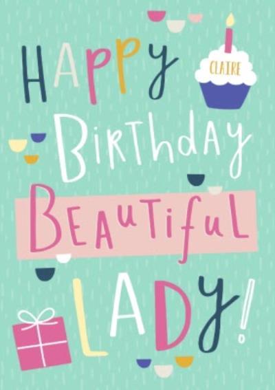 Happy Birthday Beautiful Lady Card