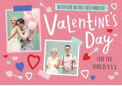 Oh Happy Day Valentines Photo Upload Card