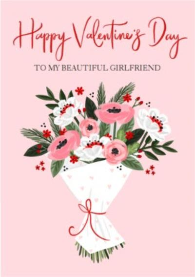 Okey Dokey Bouquet Happy Valentine's Day Card