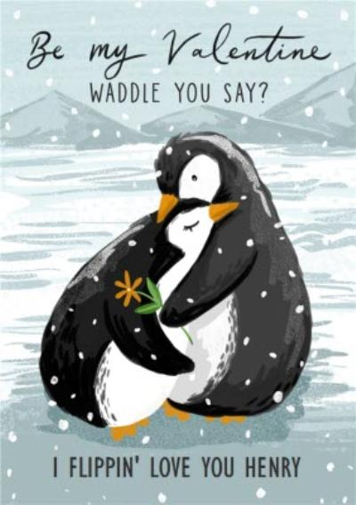 Okey Dokey Be My Valentine Waddle You Say Valentine's  Day Card