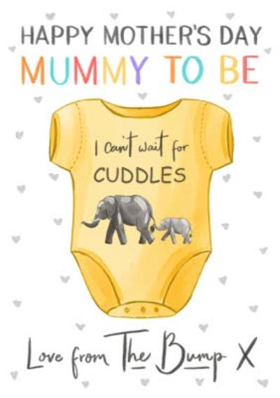 Okey Dokey Love From the Bump Mummy To Be Mother's Day Card