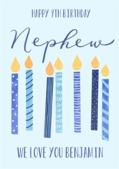 Okey Dokey Illustrated Candles Nephew Birthday Card