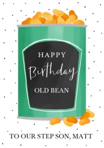 Okey Dokey Design Old Bean Step Son Birthday Card