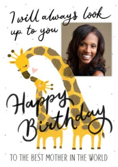 Okey Dokey Illustrated Giraffes To The Best Mother In The World Photo Upload Birthday Card